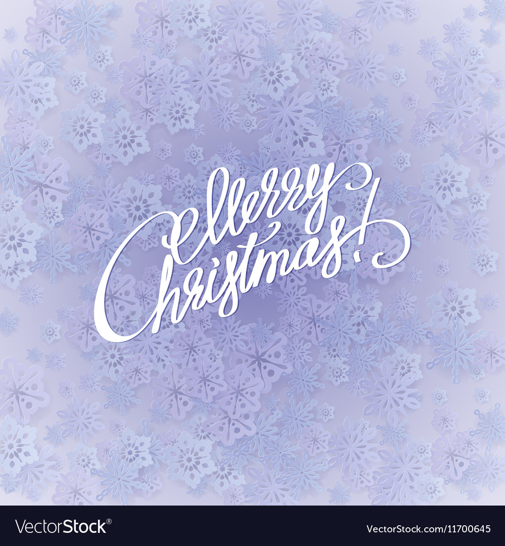 Merry christmas handwritten text on background