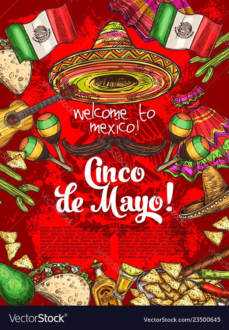 Mexican holiday cinco de mayo day celebration