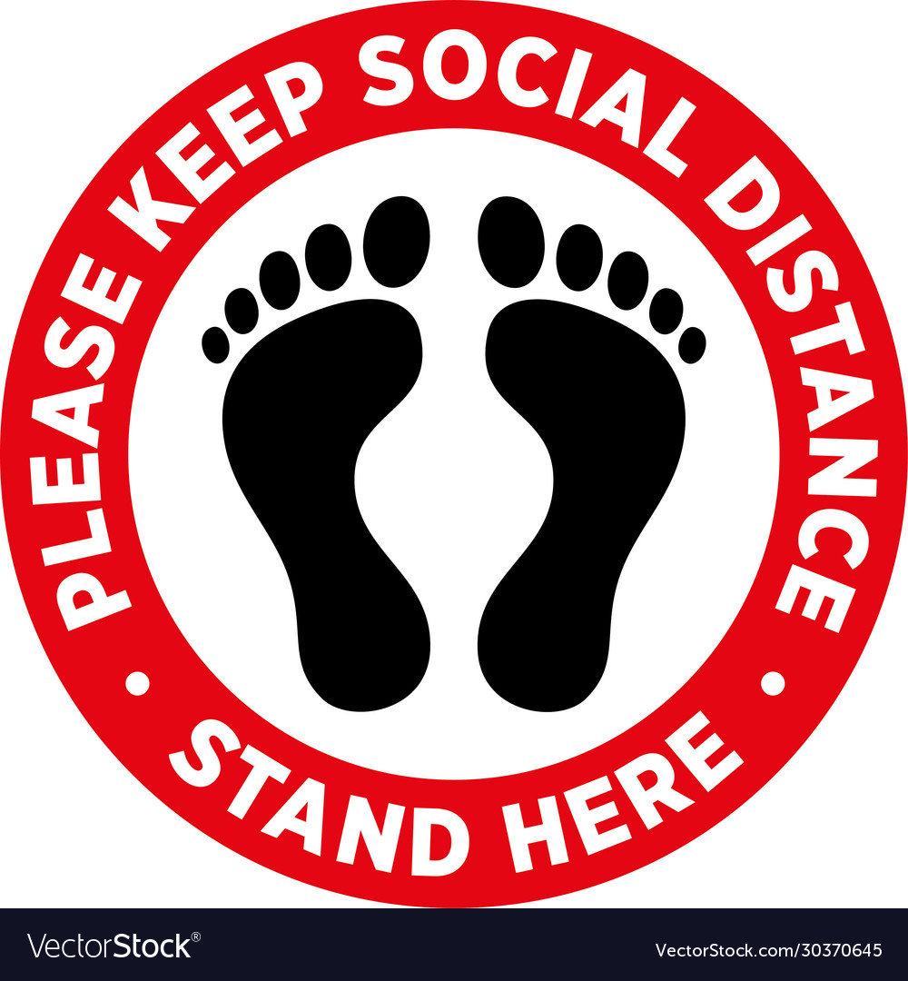 Social Distancing Floor Signs Stickers Floor Vinyl choose from 4 Designs Supermarket Pharmacy Business 300x300mm: KEEP YOUR DISTANCE 2M