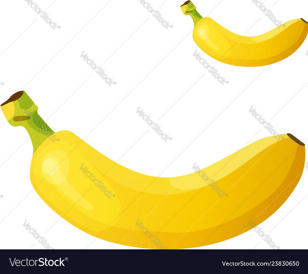 Banana detailed icon isolated on white