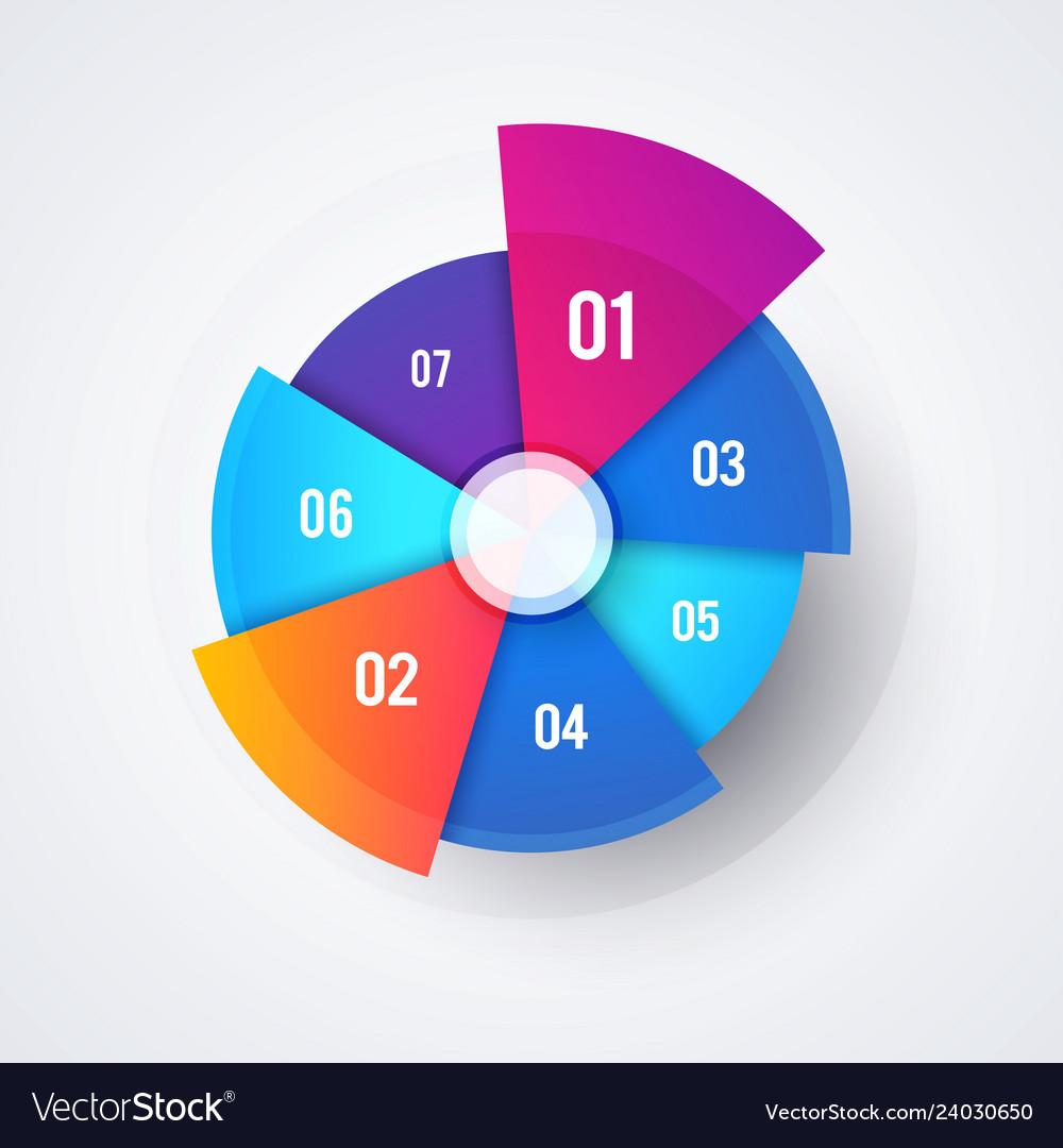 Circle pie chart design modern infographic