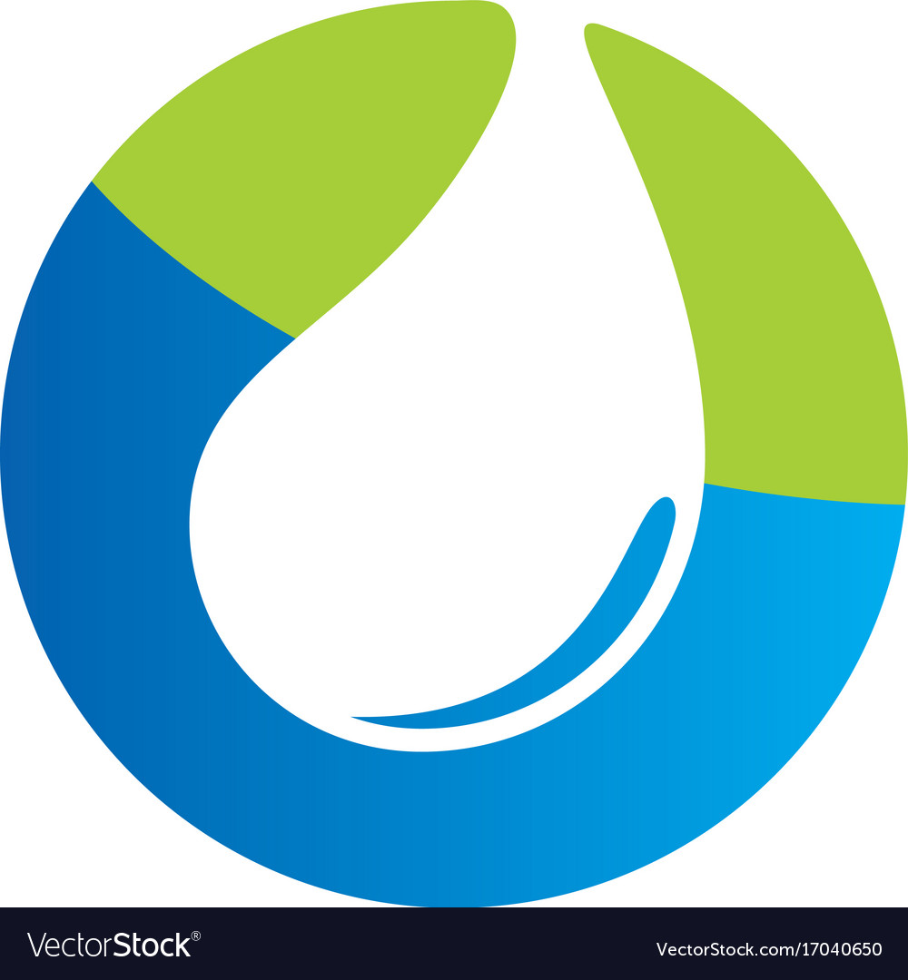 Clean water eco bio logo