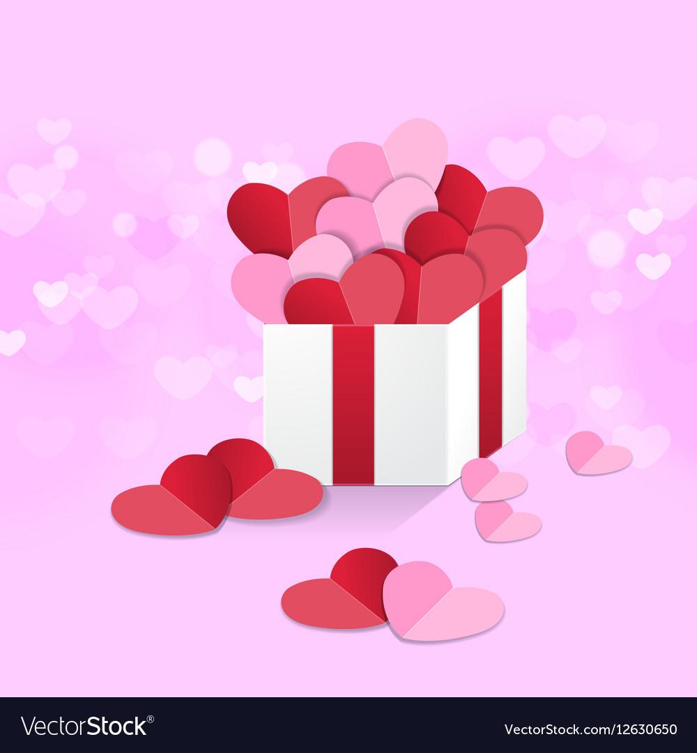 Heart box sweet pink