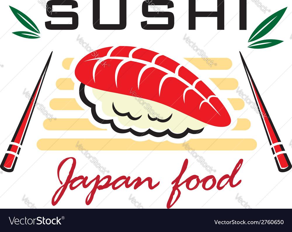 Japanese sushi seafood emblem
