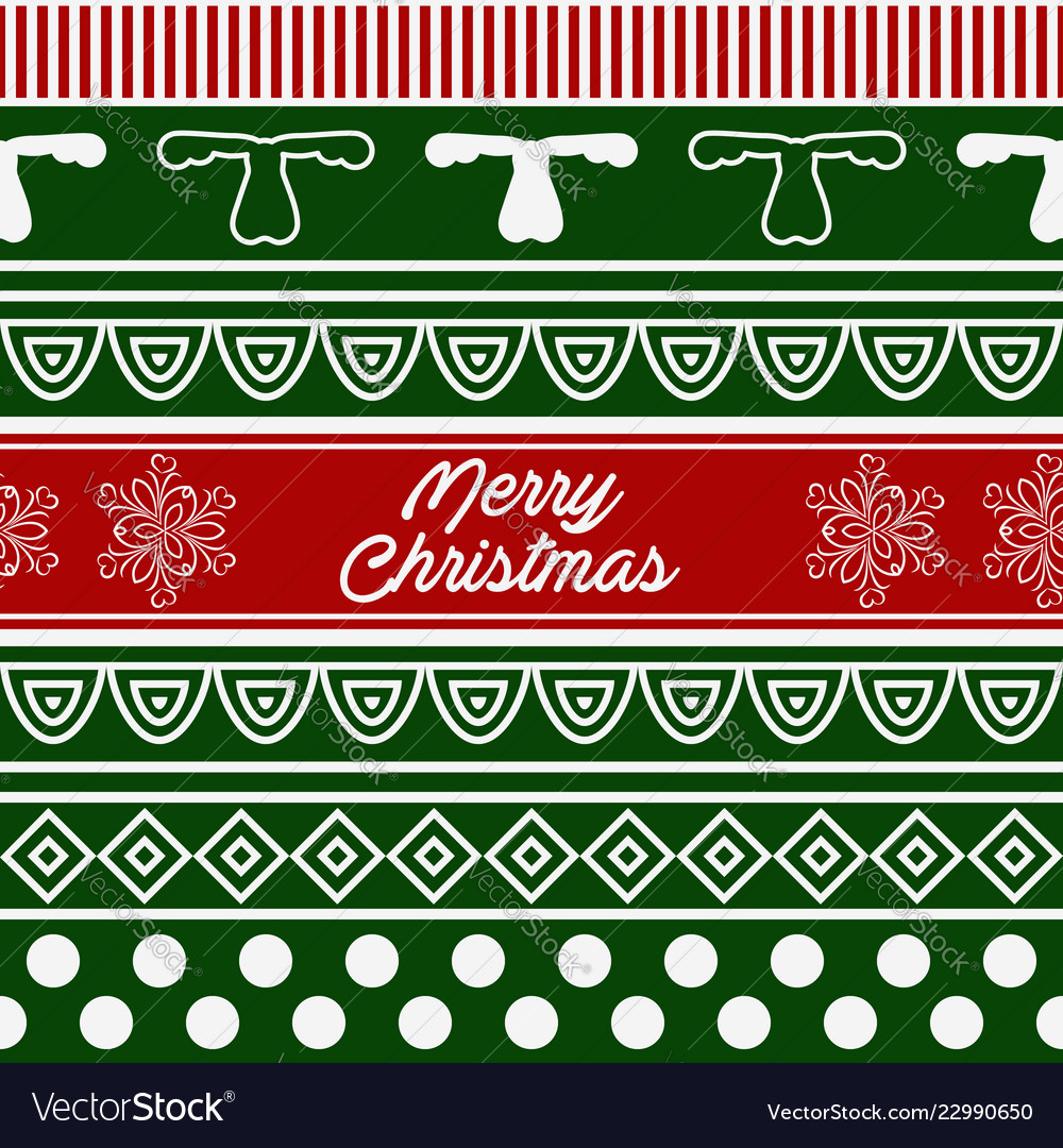 Pattern of merry christmas
