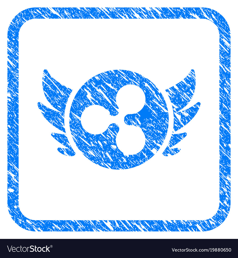 Ripple Angel Investment Framed Stamp Vector Image