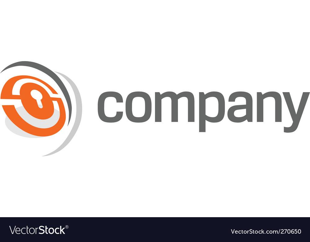 Security lock logo vector image