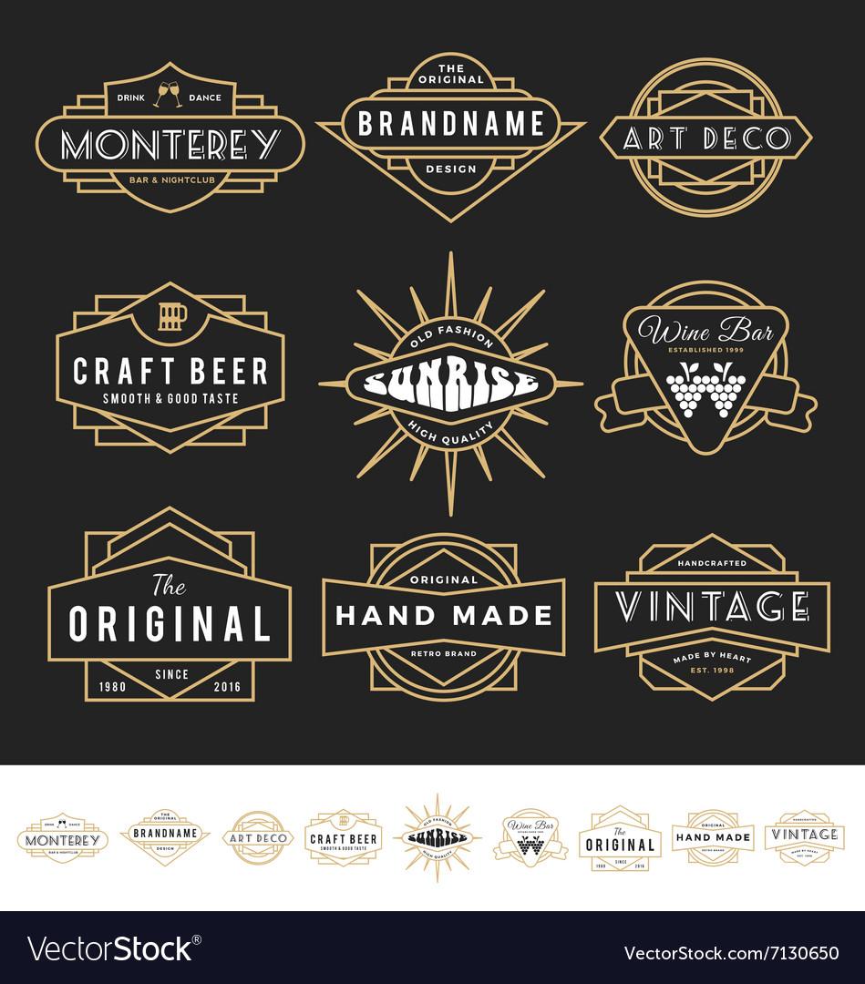 Set of retro badge logo for vintage product