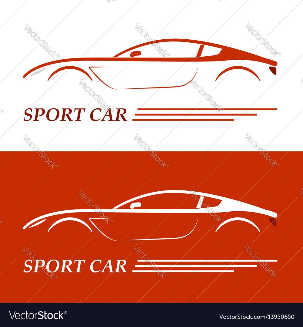 Sports car coupe vehicle silhouette