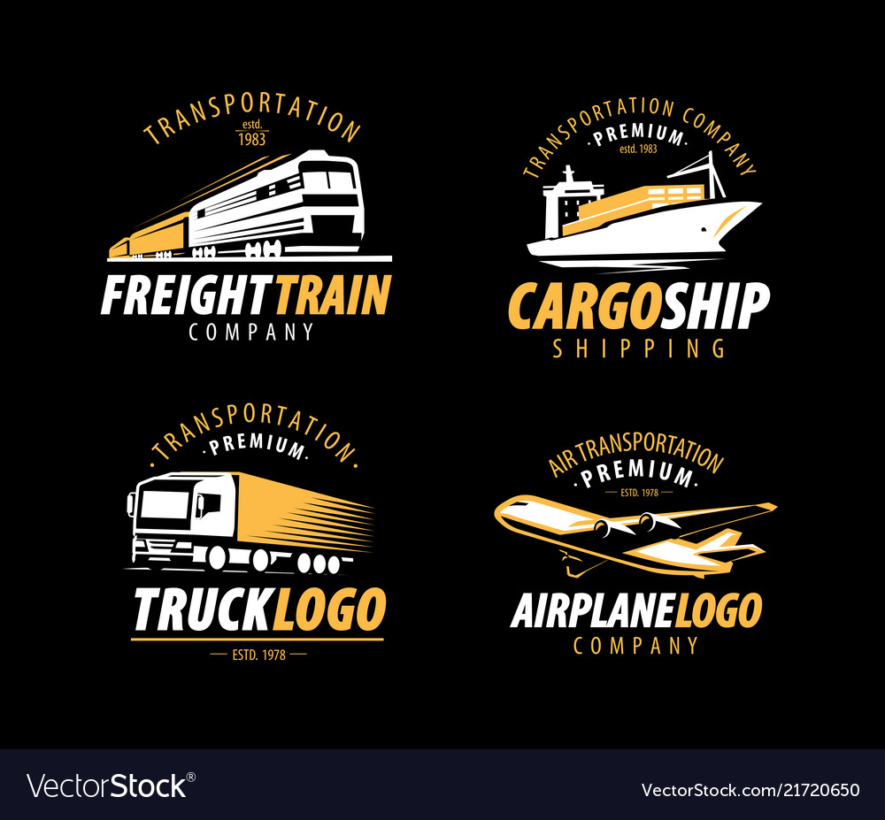 Transportation shipping logo cargo transport