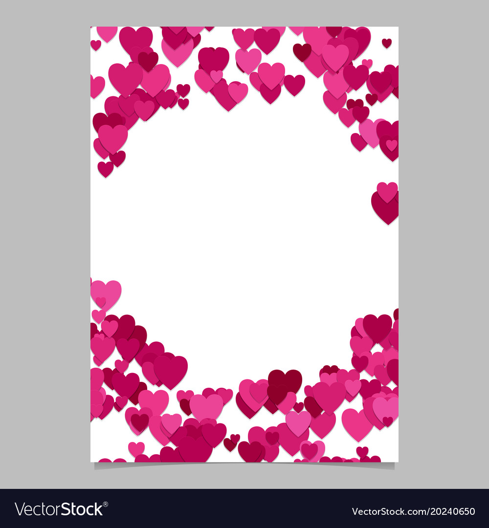 Trendy random heart brochure background template