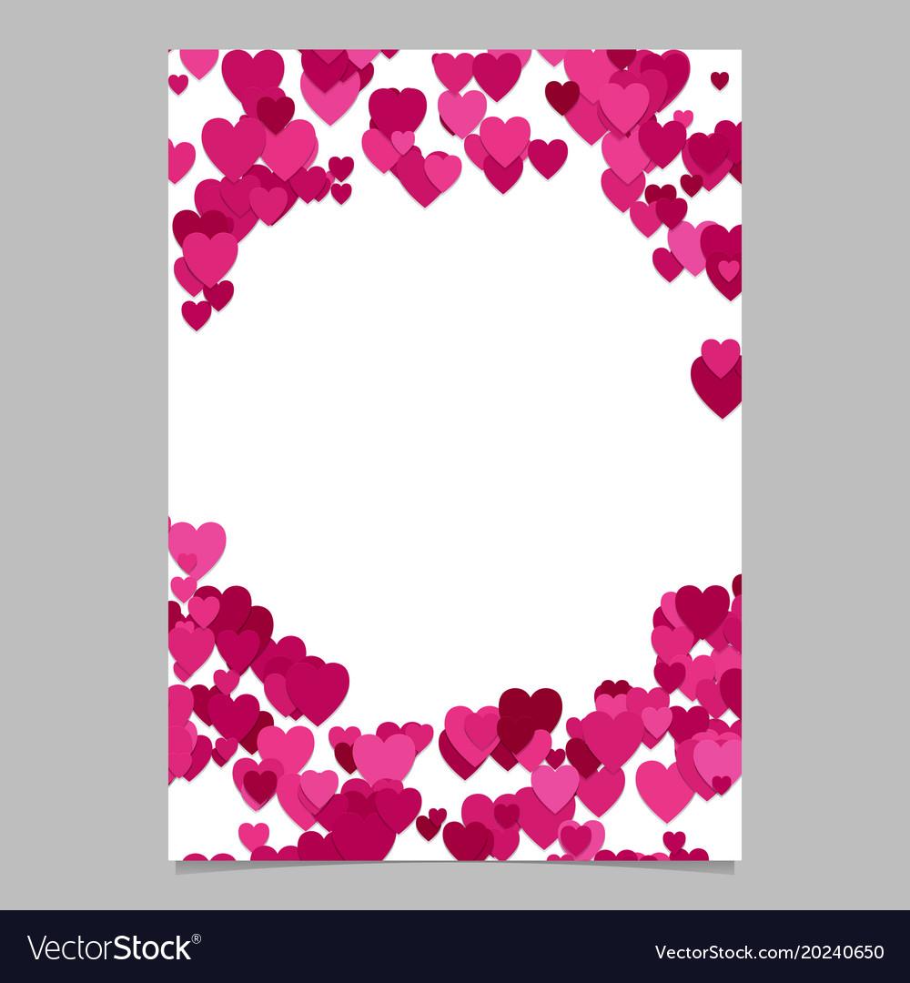 Trendy random heart brochure background template vector image