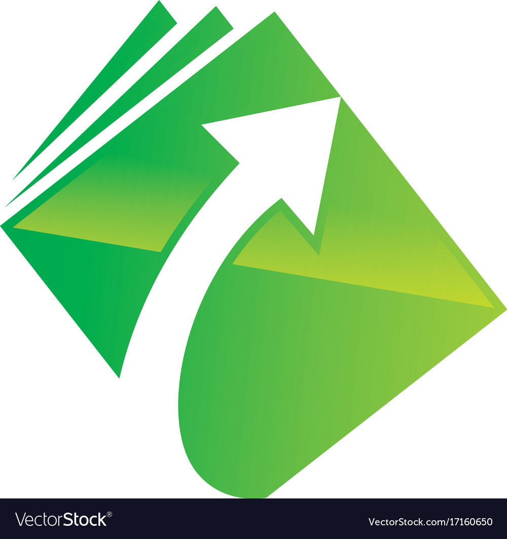 Upload arrow document data logo vector image