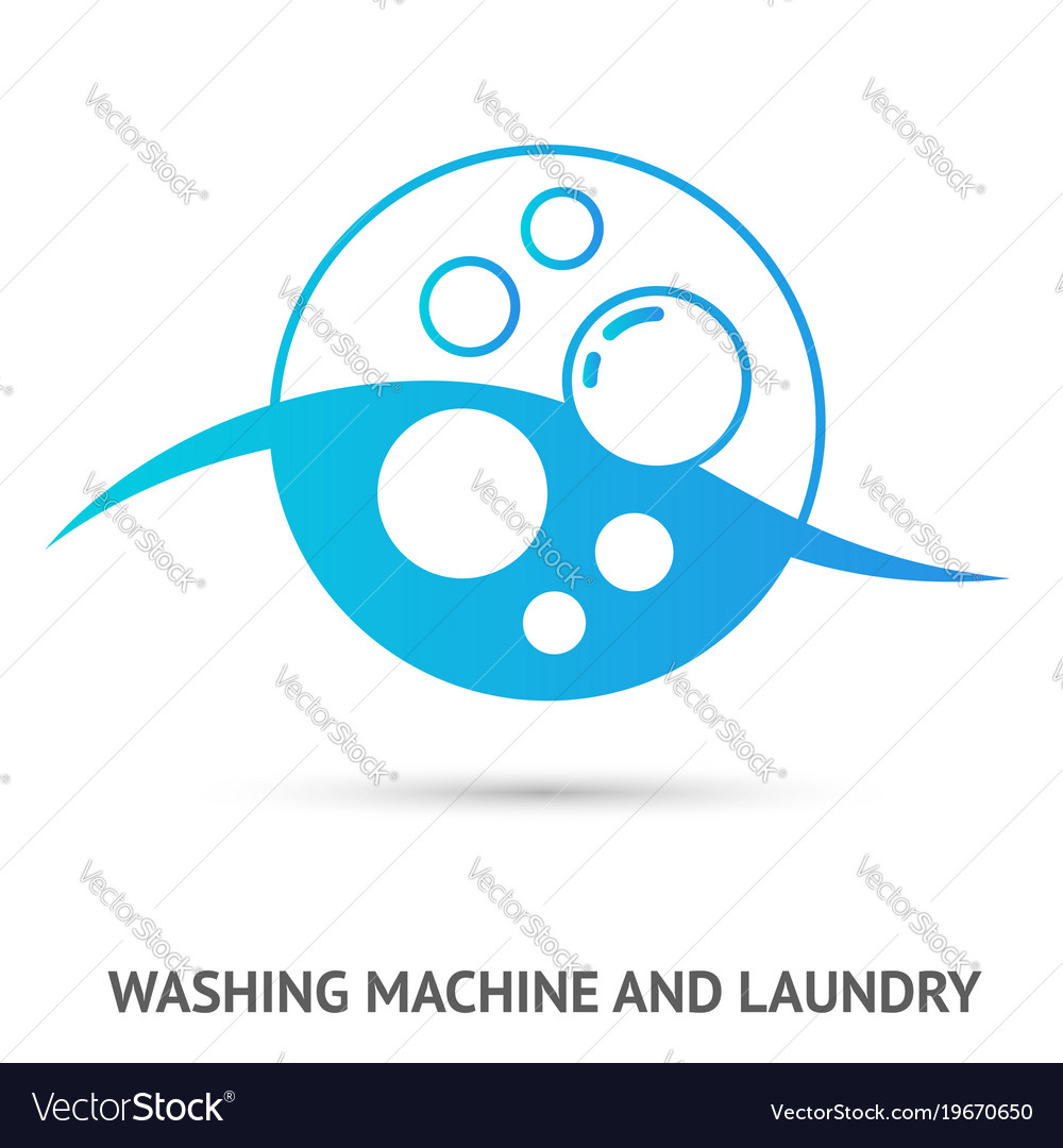 Washing machine and laundry logo