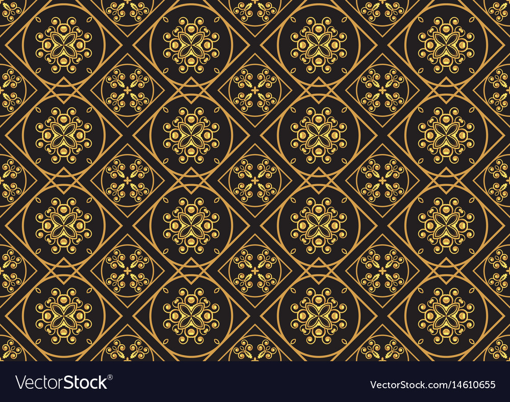A gold seamlessl pattern for the card or