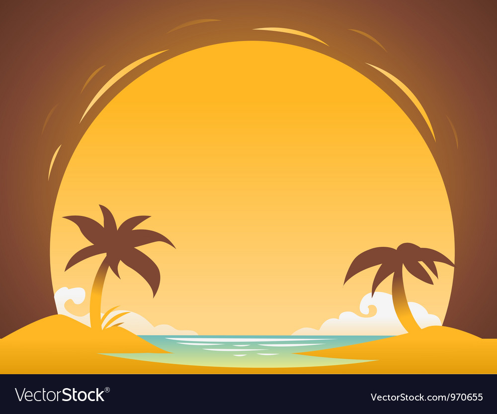 Abstract sunset background for design