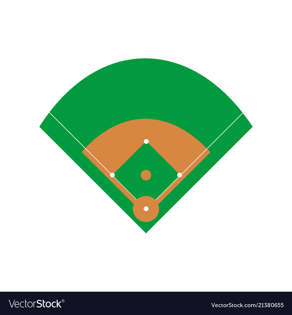 baseball field royalty free vector image vectorstock rh vectorstock com baseball field position vector Baseball Diamond Vector