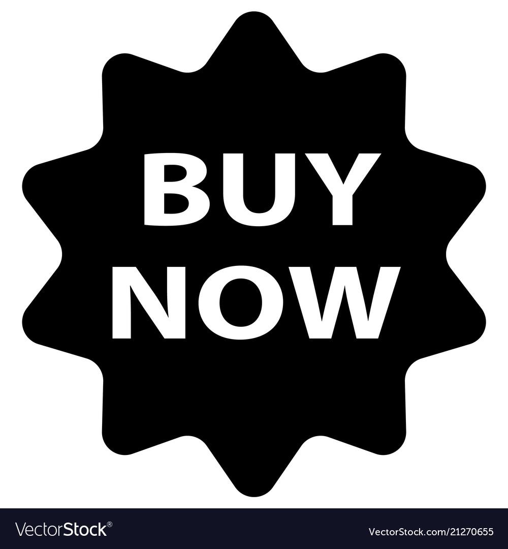 Buy now icon on white background flat style buy