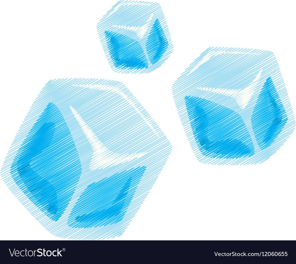 cartoon set ice cubes transparent royalty free vector image rh vectorstock com cartoon ice cube images cartoon ice cube melting
