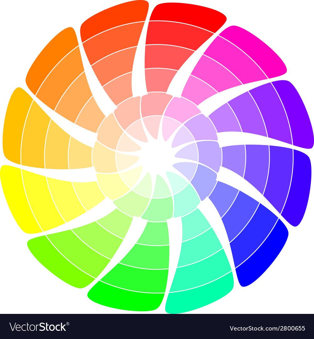Color wheel from arrows