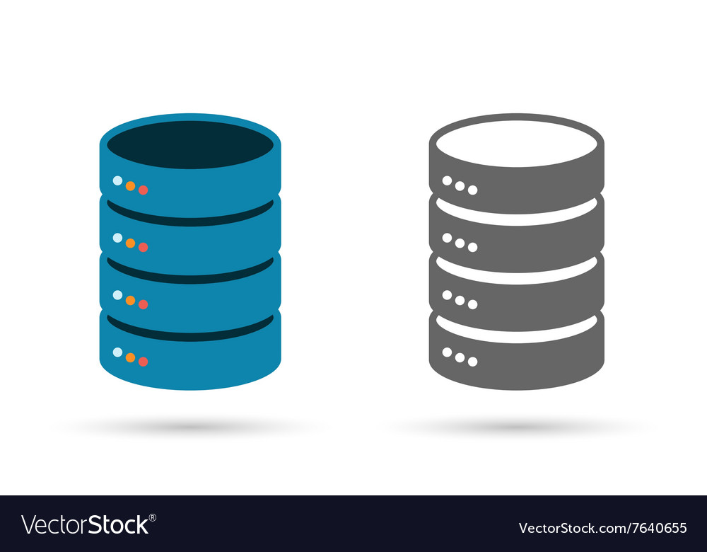 Data storage flat icon vector image