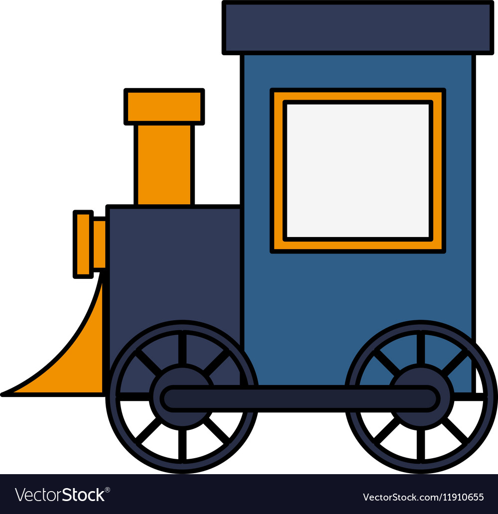 Isolated train toy design