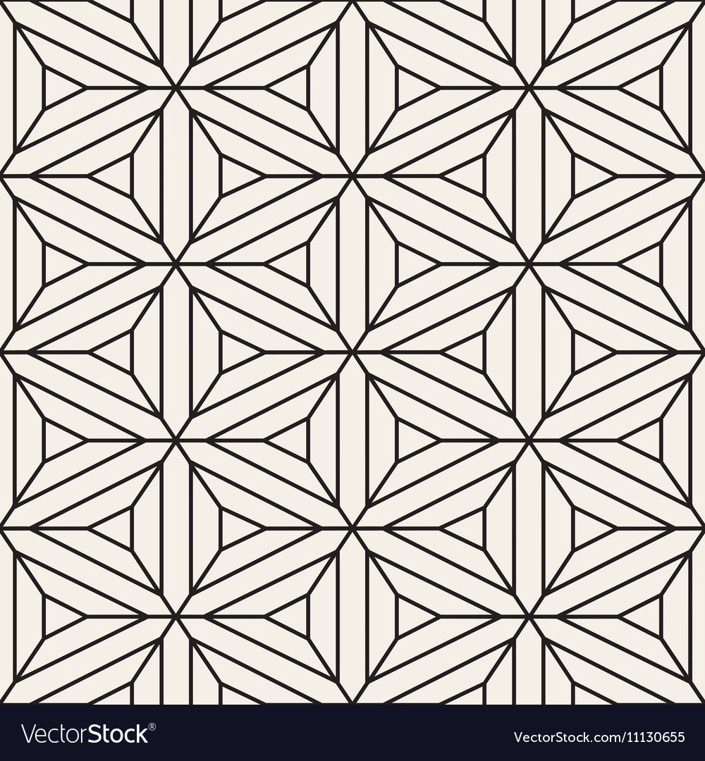 Seamless Black and White Lace Geometric