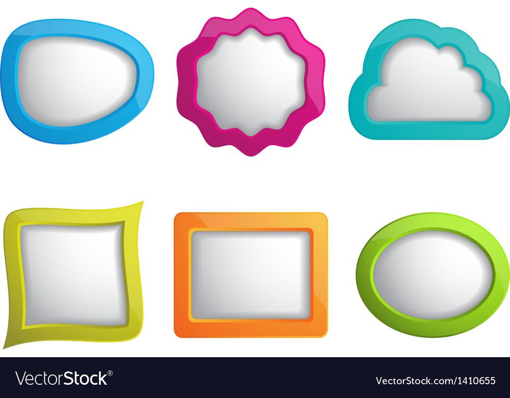 Set of 3d web frames