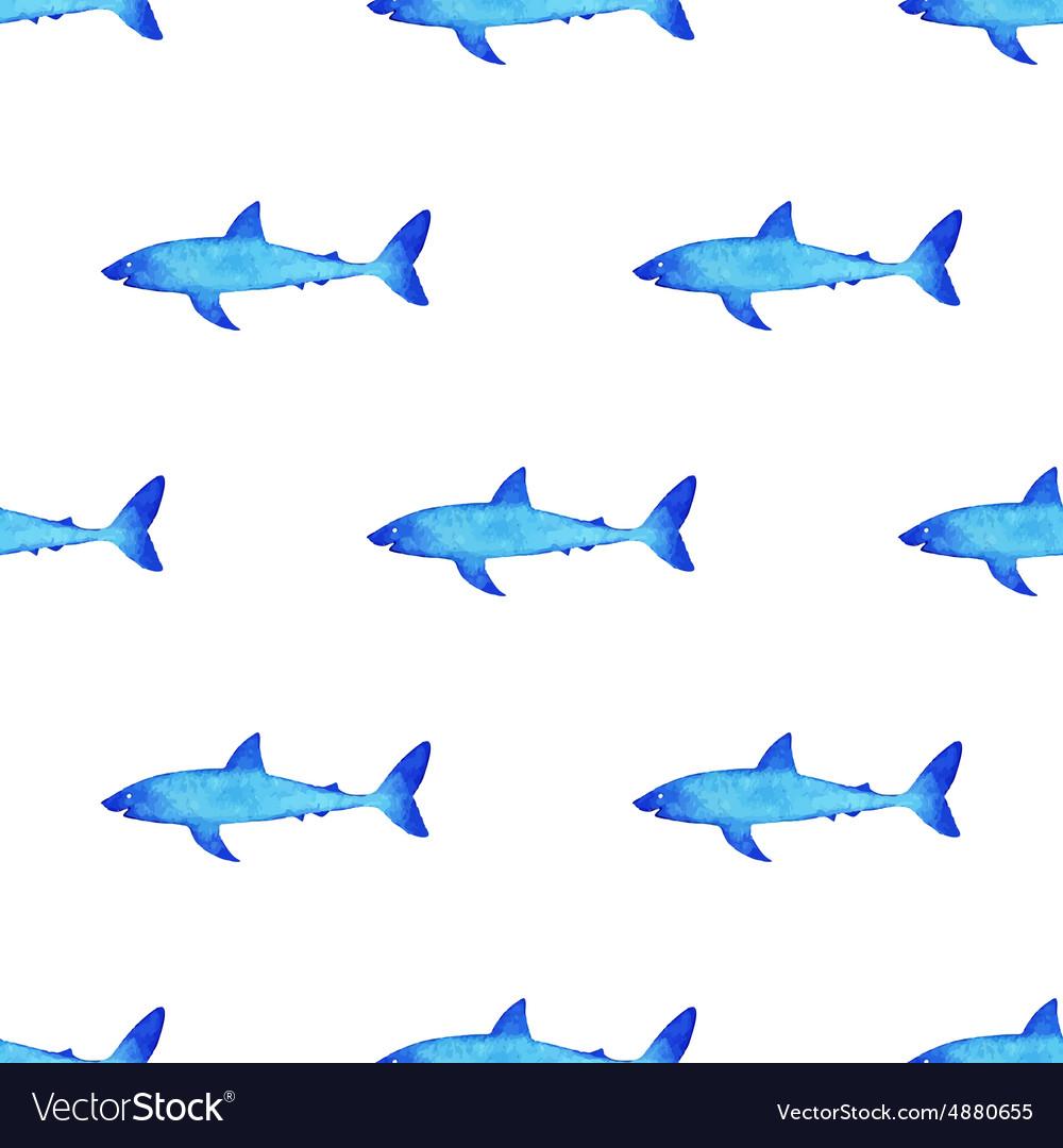 Watercolor shark pattern