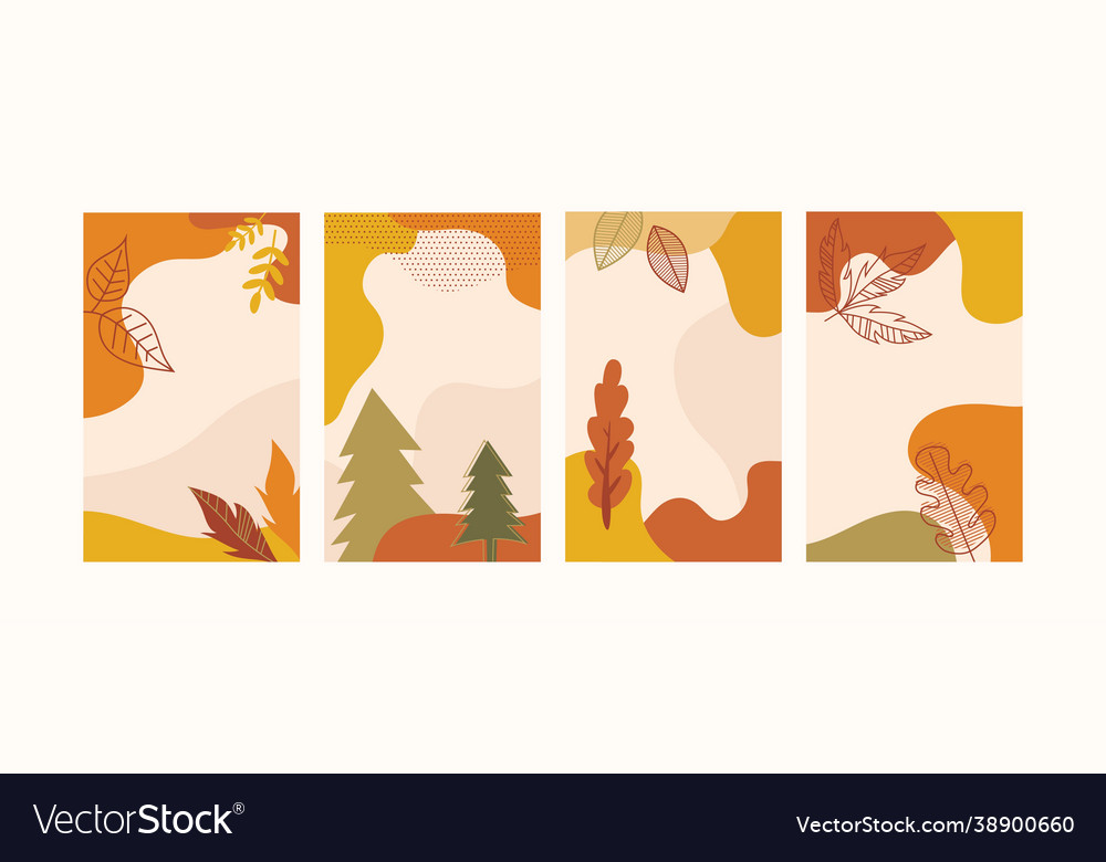 Autumn landscapes vertical banners and wallpaper