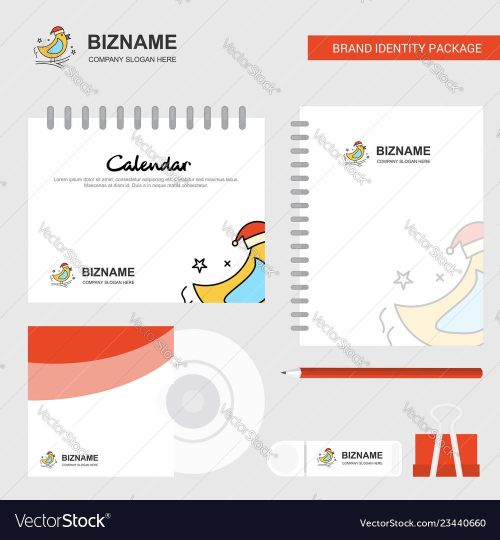 Bird logo calendar template cd cover diary and