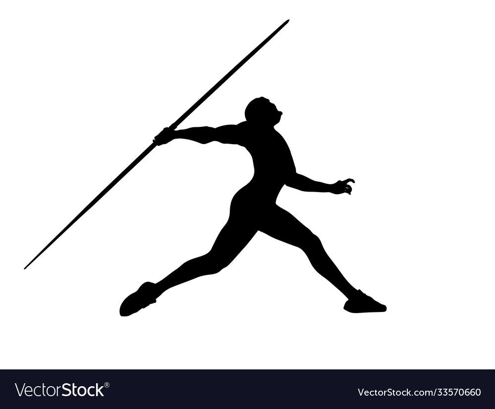 Javelin throw male athlete