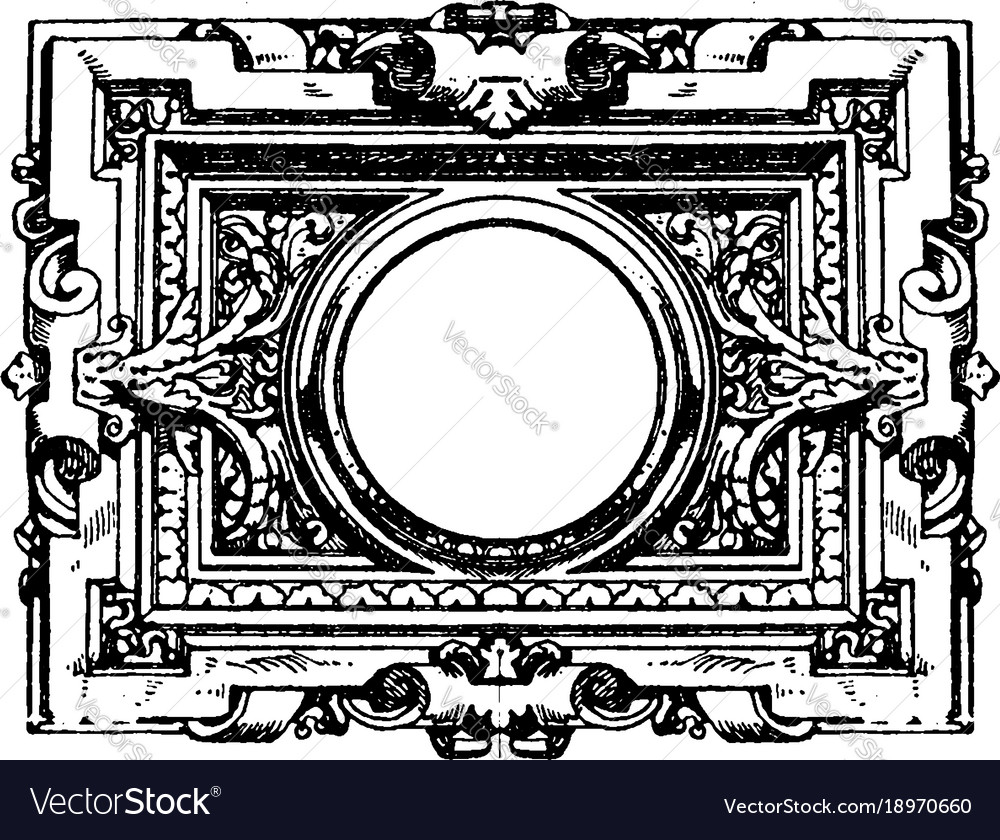 Modern french architectural frame is surrounded