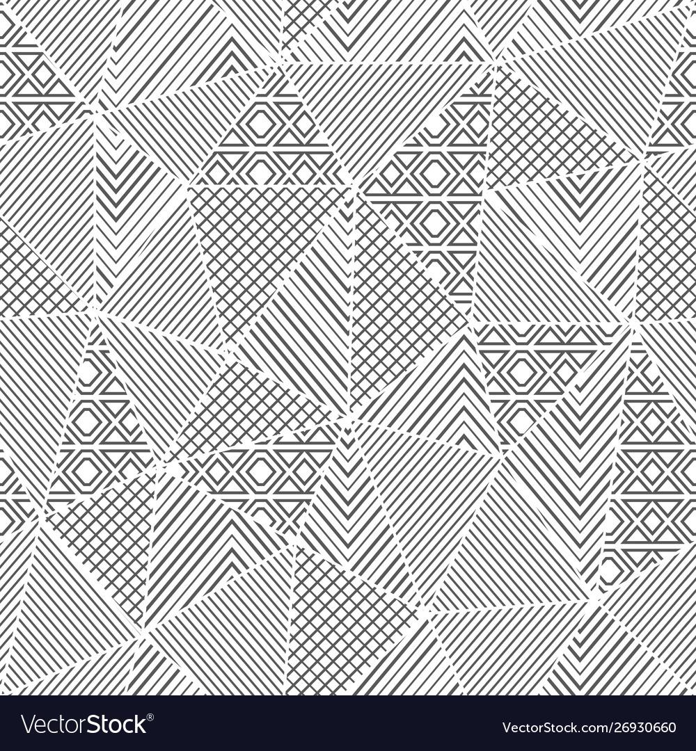Monochrome triangle seamless pattern