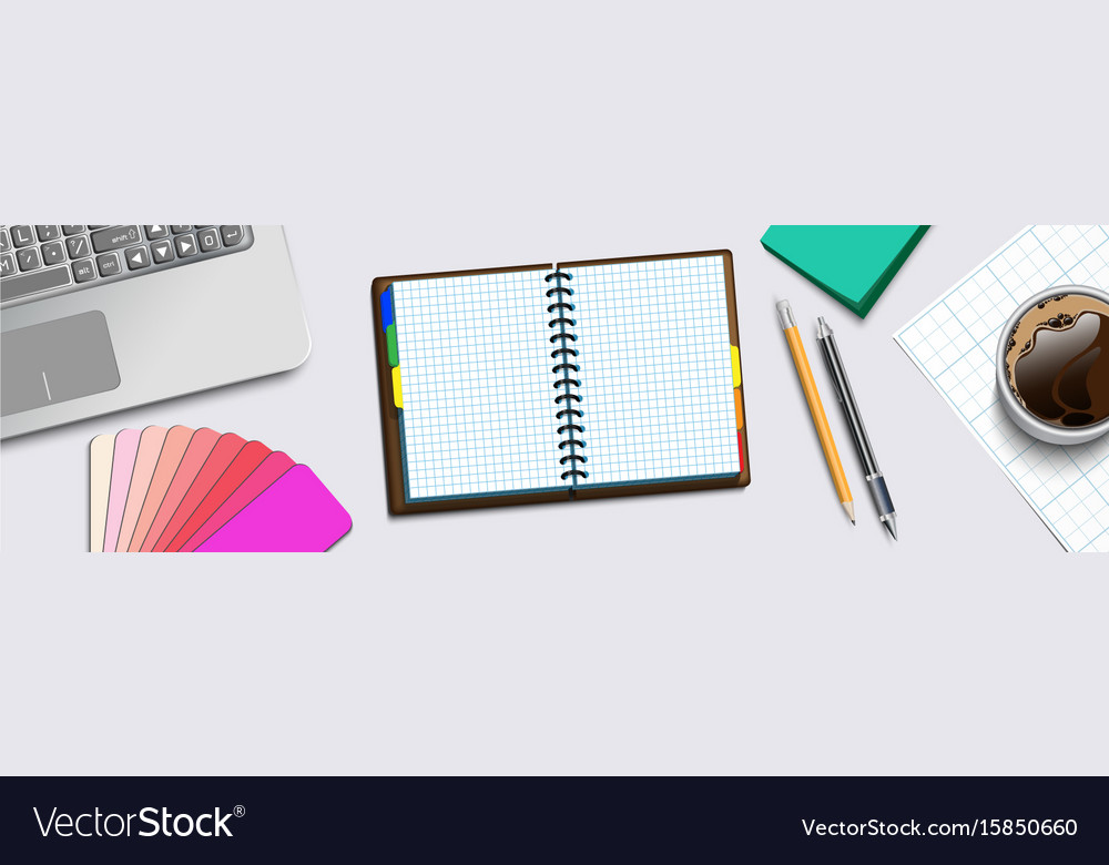 Notebooke computer and cup of coffee 2 vector image