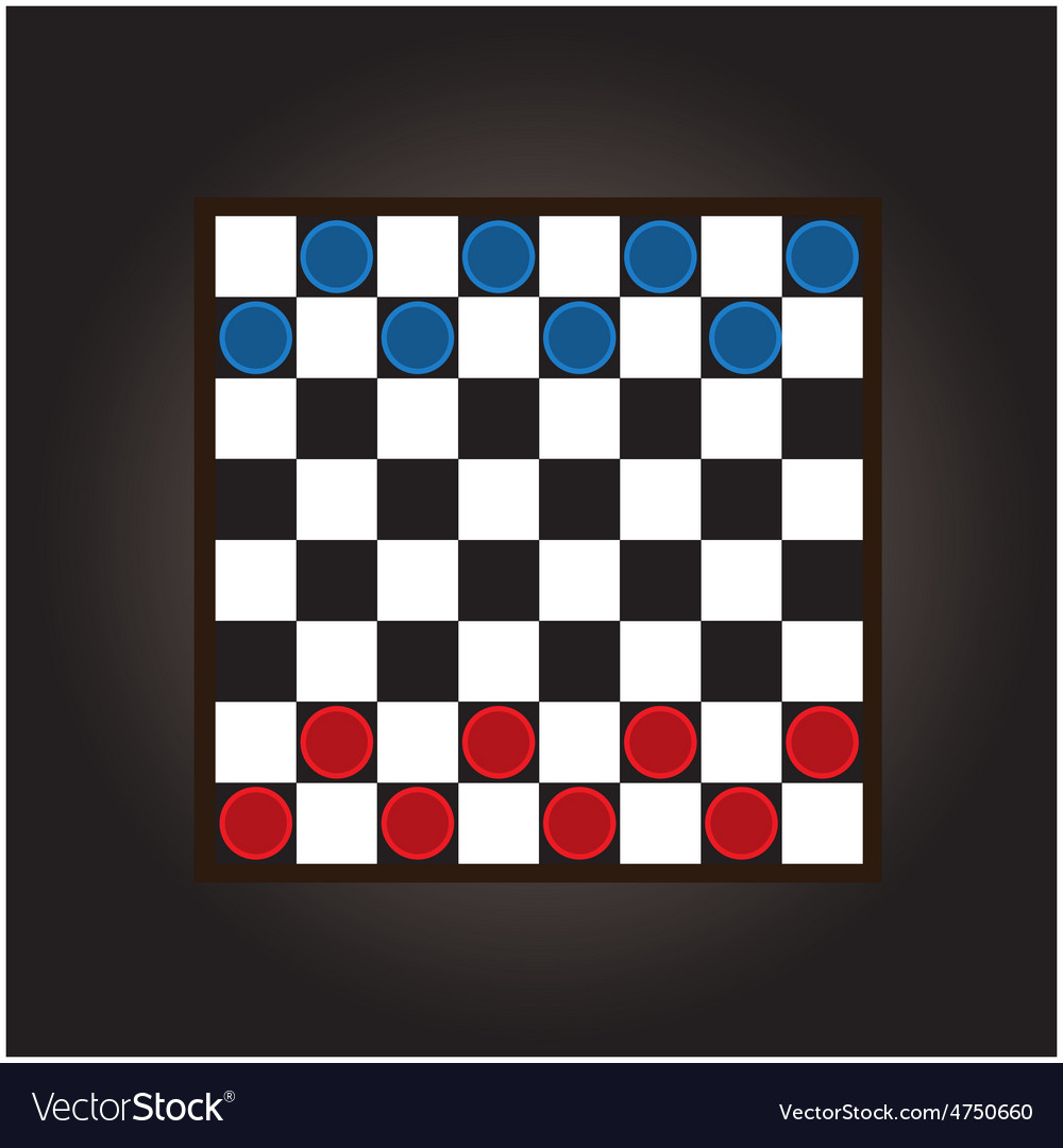 Thai checkers board vector image