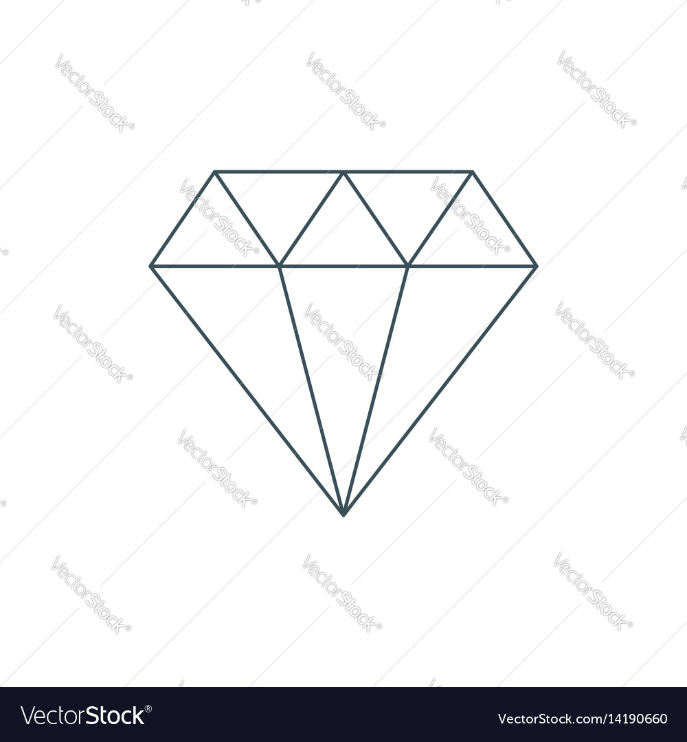 Thin line diamond icon