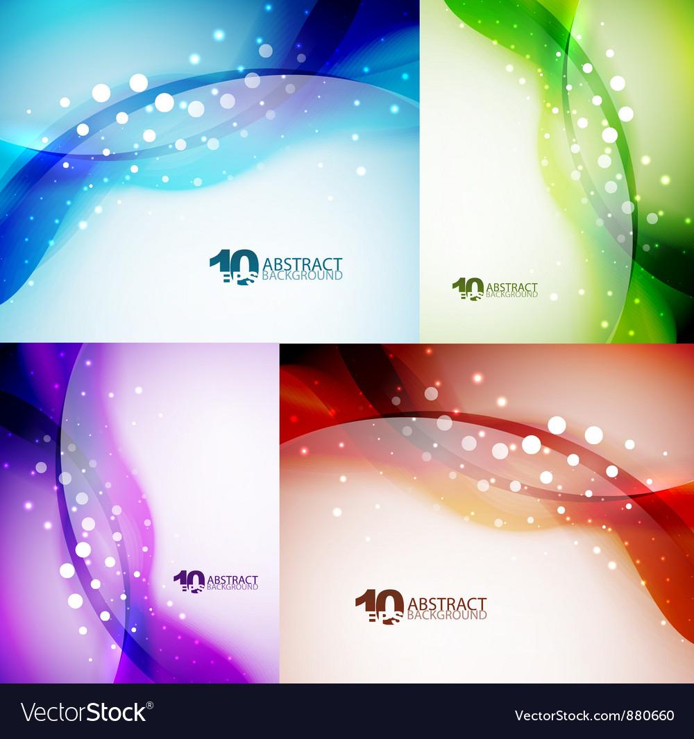 Wave backgrounds set vector image