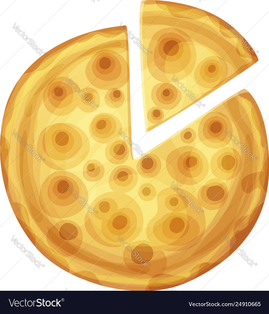 Bar pizza top view cartoon food vector