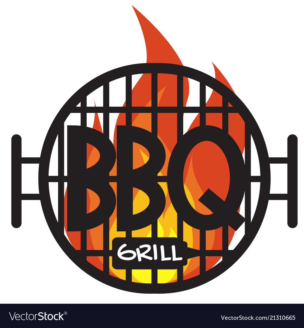 Logo bbq grill on white background graphic