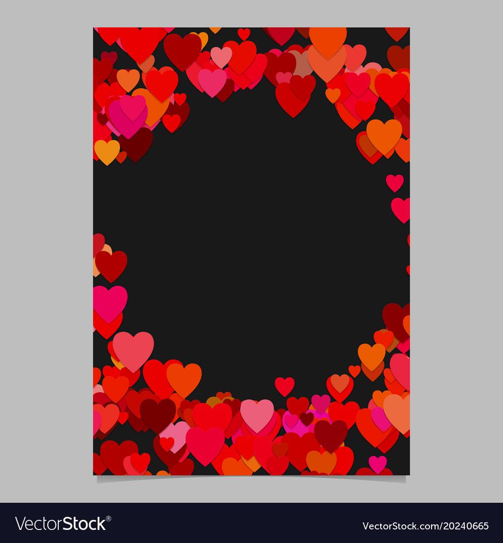Random heart page background design - love
