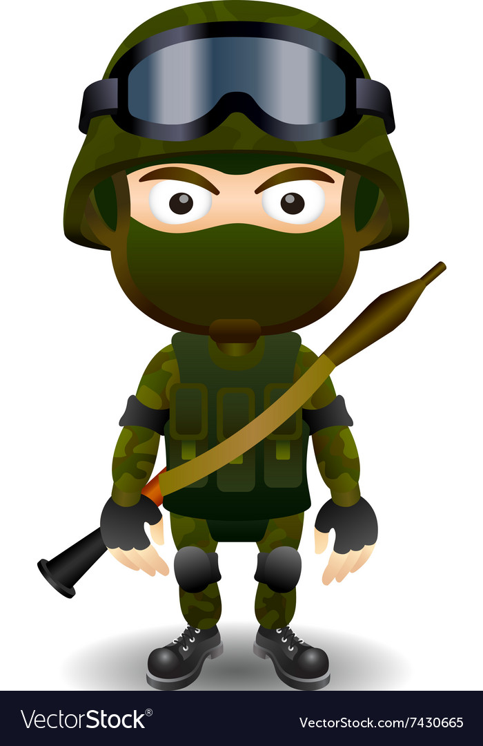 Soldier rpg military character combat black mask