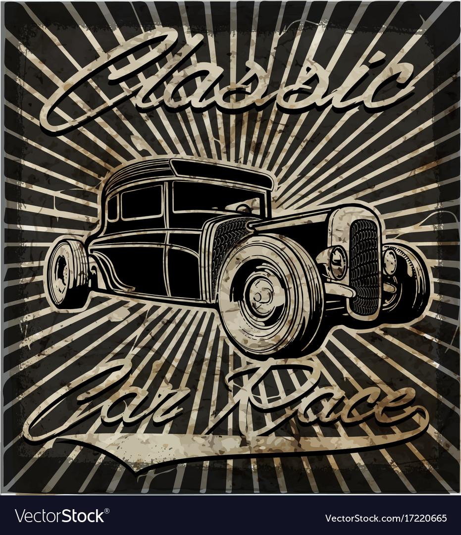 Vintage old car retro style