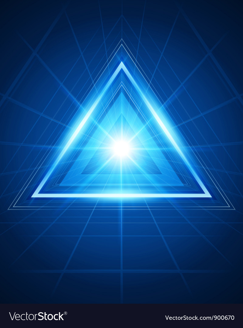 Abstract triangle tunnel background