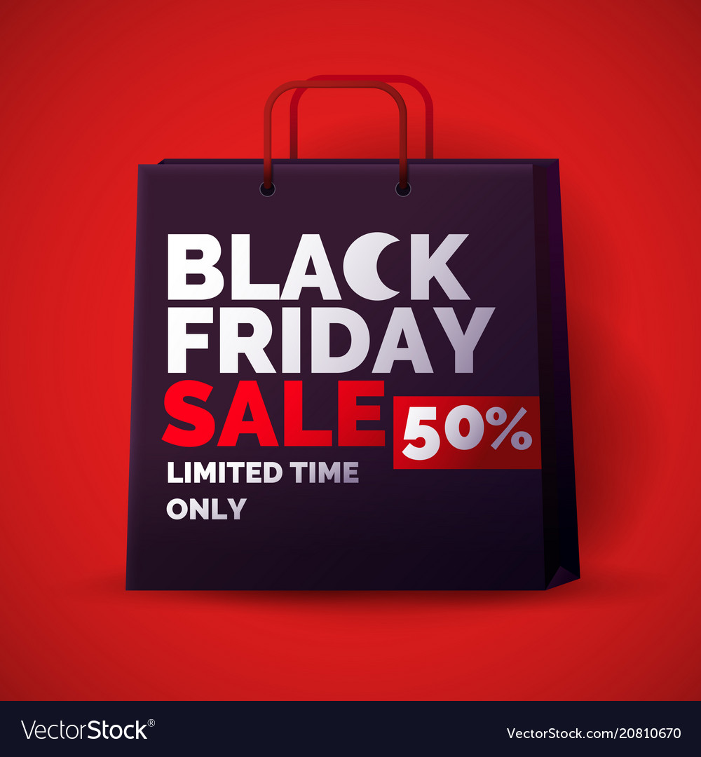 Black friday big sales trendy modern poster to