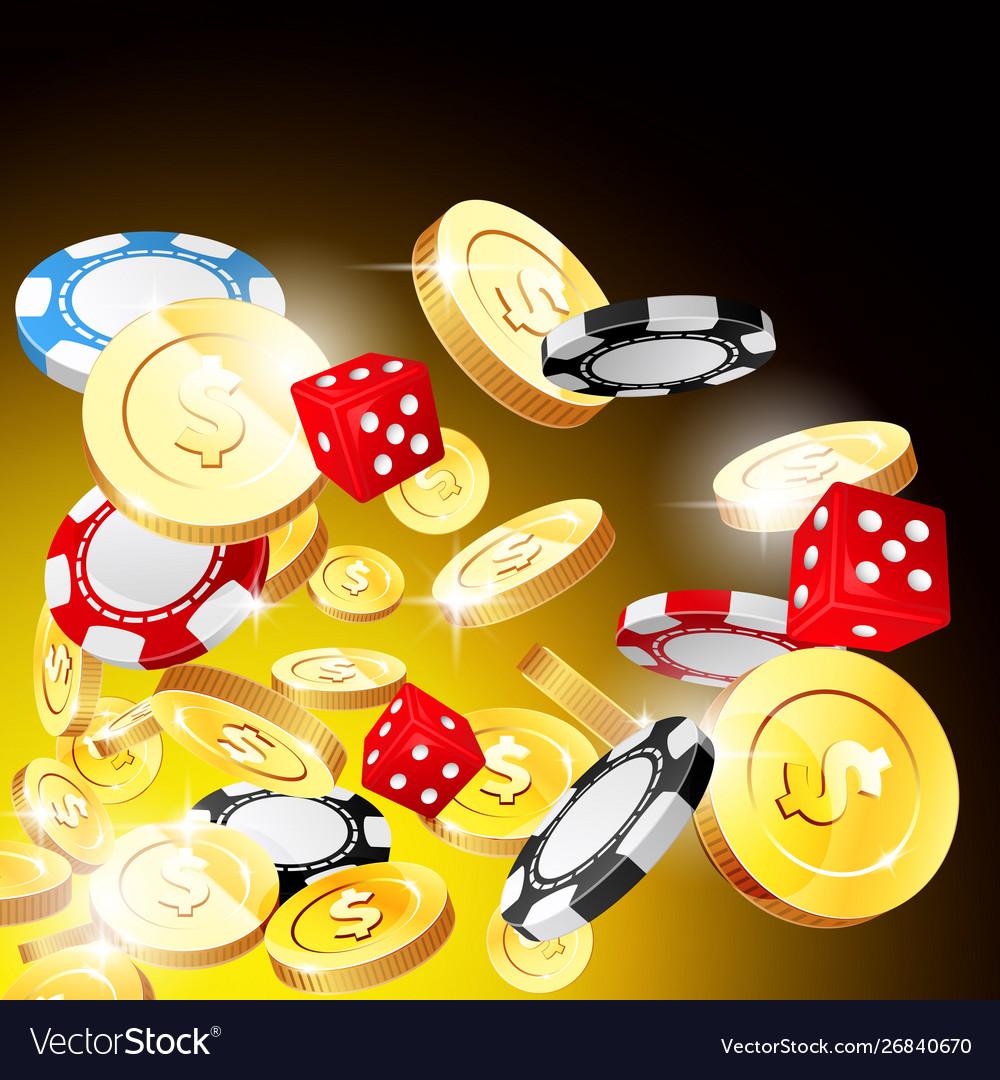 Casino and jackpot background - gambling chips
