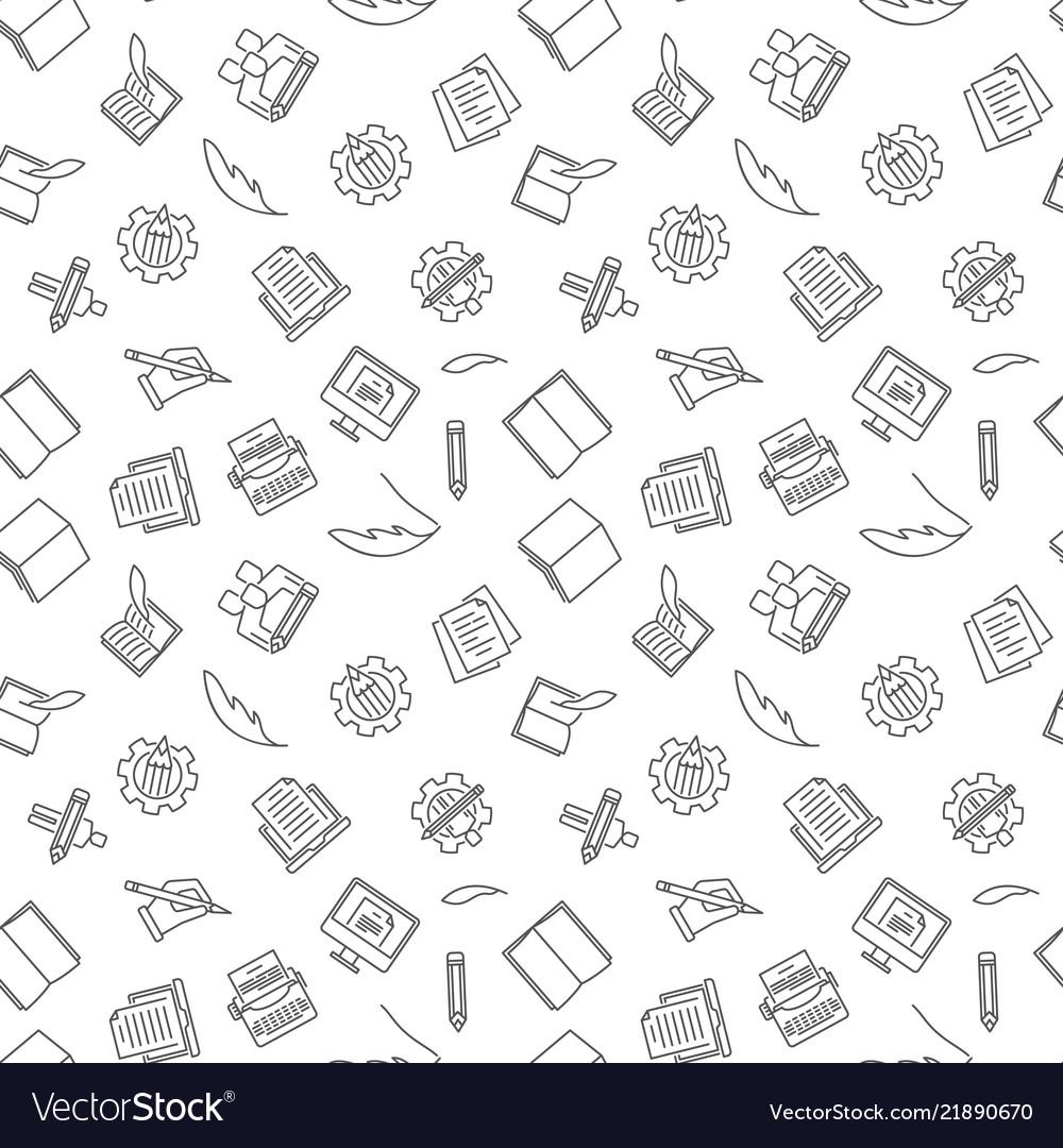 Copywriting and blogging seamless pattern