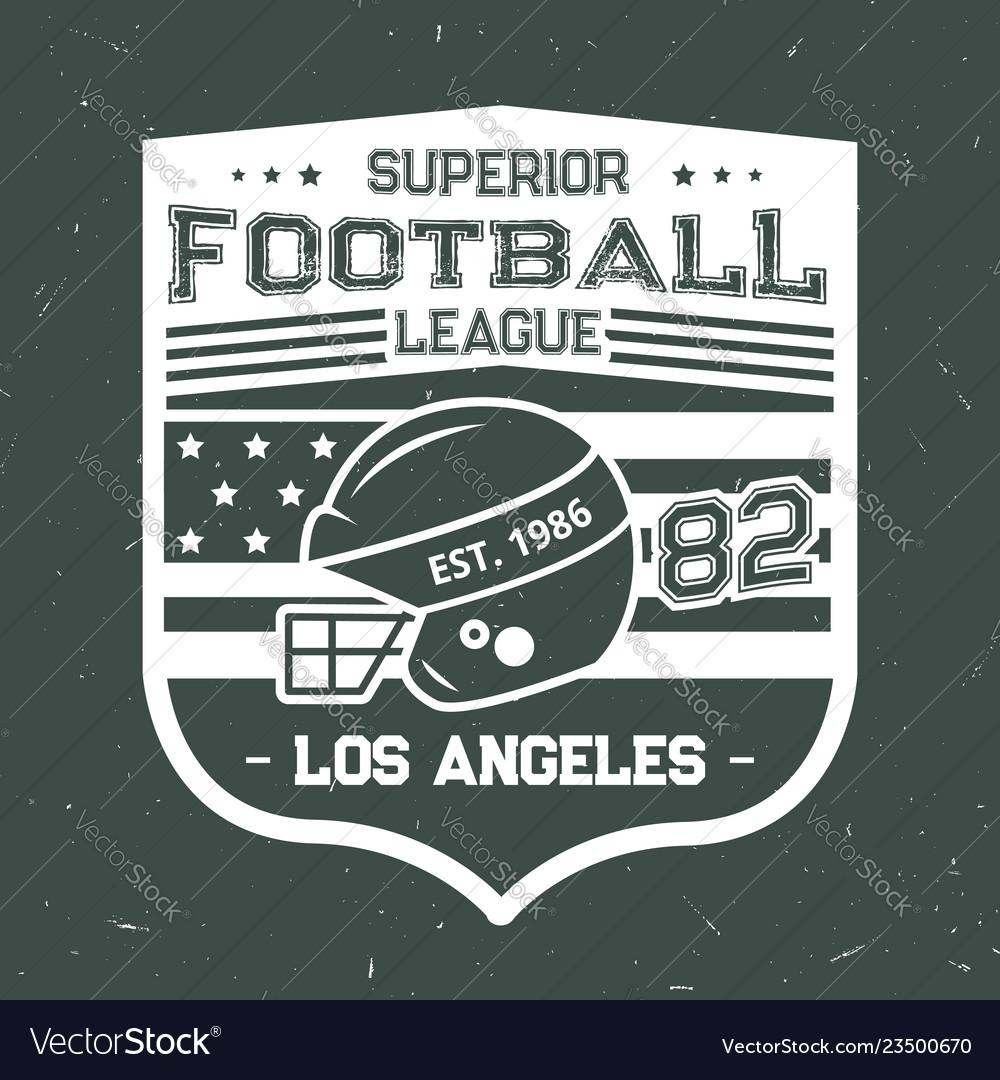 Football summer camp league t-shirt print
