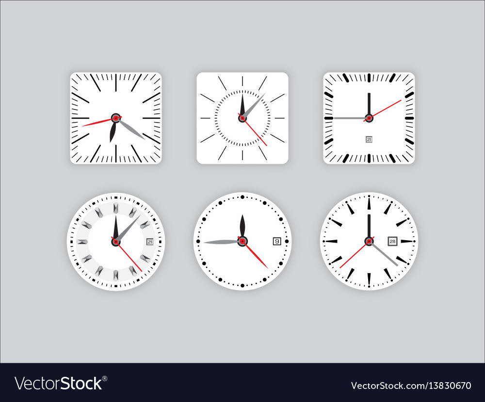 Set clock dial timer vector image
