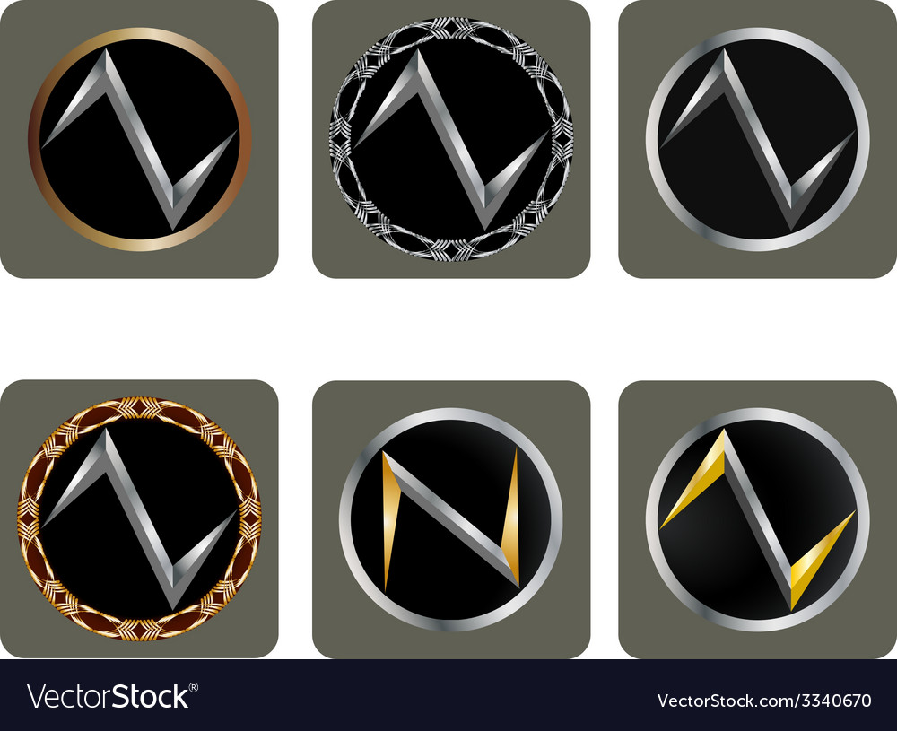 Set of abstract shapes vector image